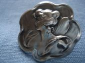 1900 -1910 Continental Standard Silver Art Nouveau Fairy Button (SOLD)